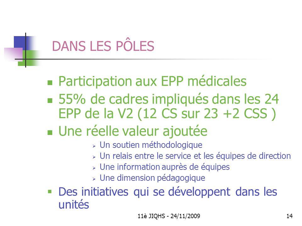 Participation aux EPP médicales