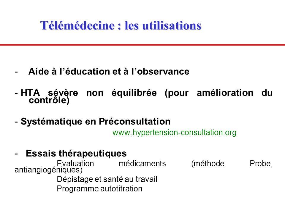 Télémédecine : les utilisations