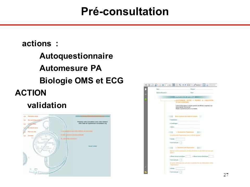 Pré-consultation Délégation de tache (depuis 2005 à l'HEGP)