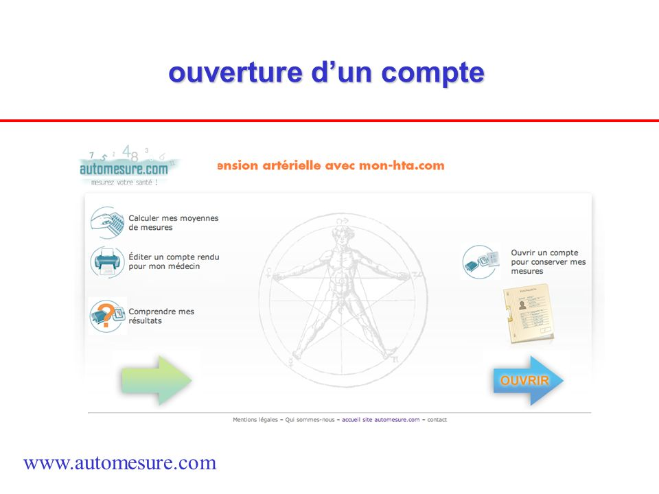 ouverture d'un compte www.automesure.com