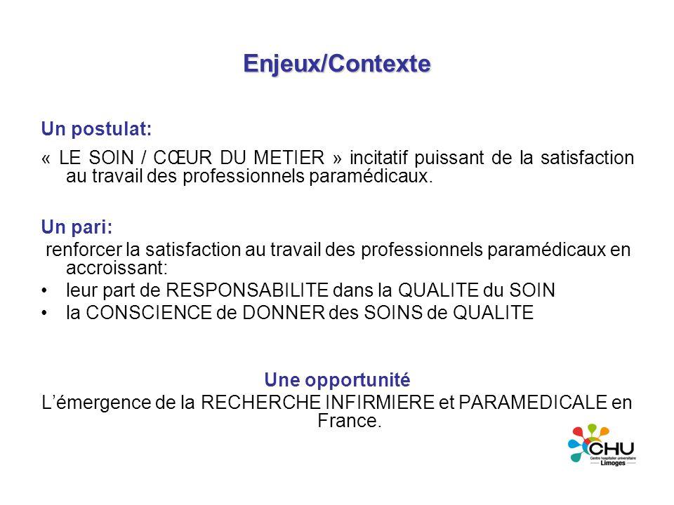 L'émergence de la RECHERCHE INFIRMIERE et PARAMEDICALE en France.