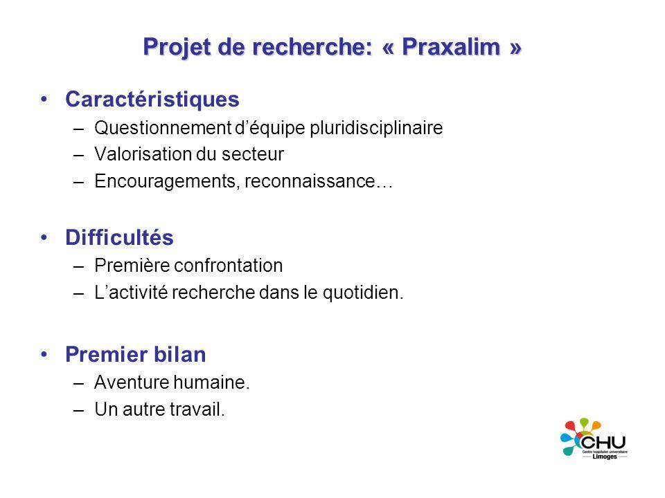 Projet de recherche: « Praxalim »