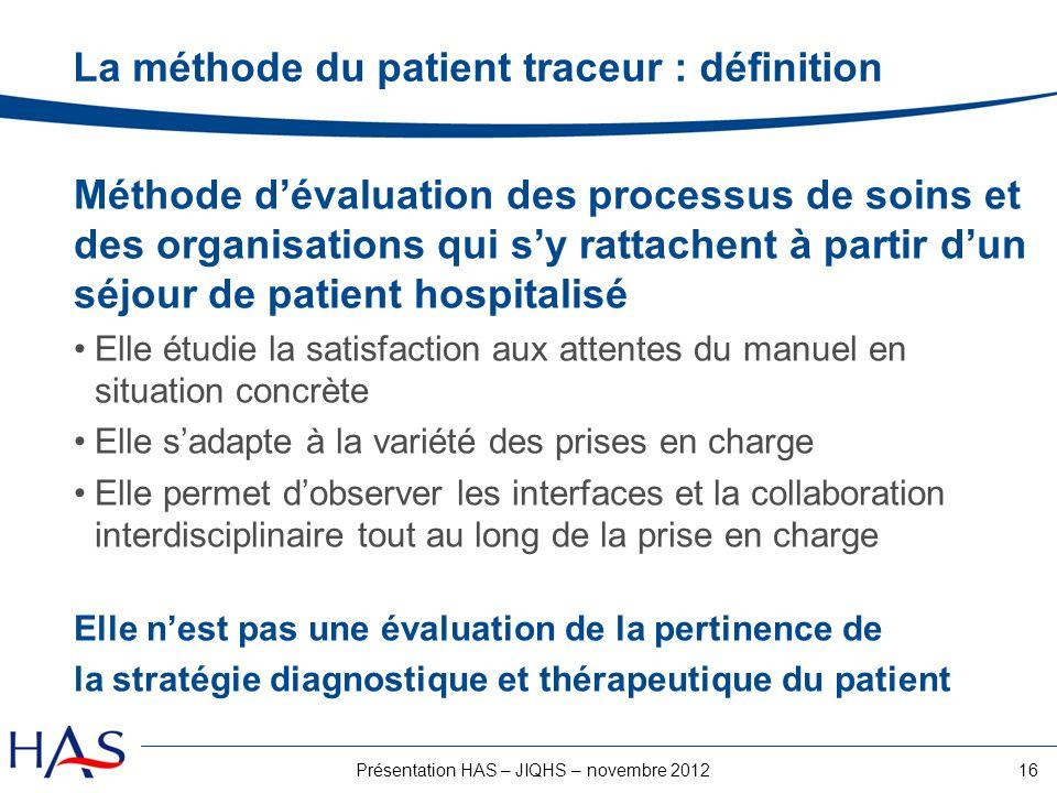 La méthode du patient traceur : définition