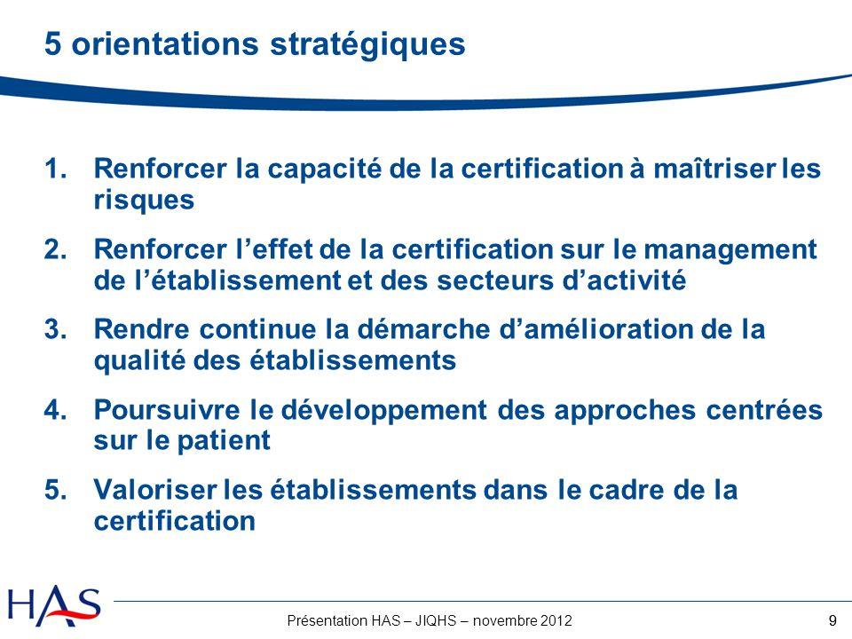 5 orientations stratégiques