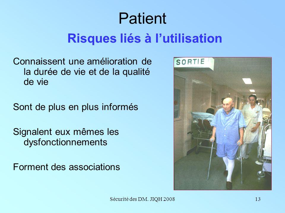 Patient Risques liés à l'utilisation