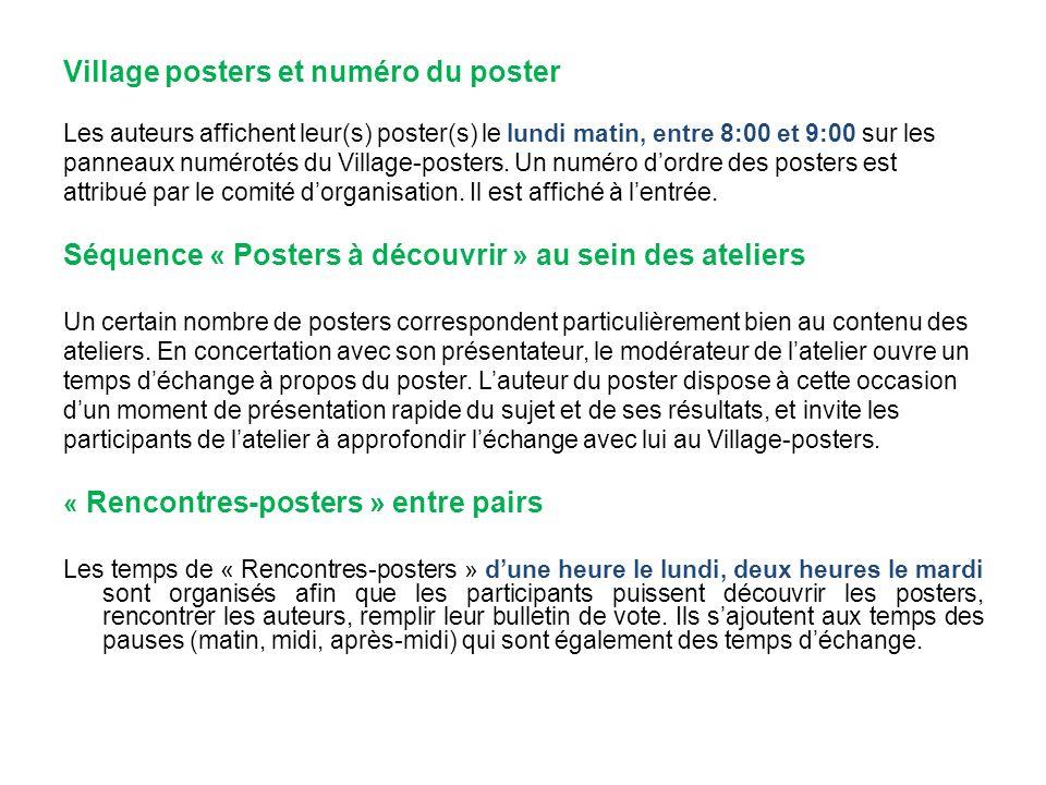 Village posters et numéro du poster