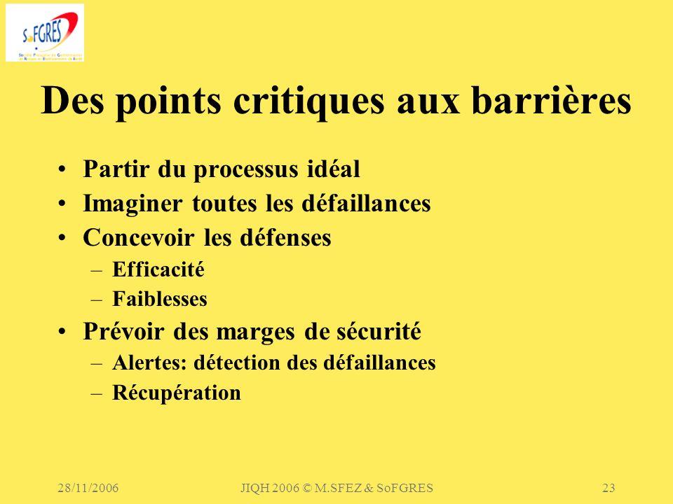 Des points critiques aux barrières