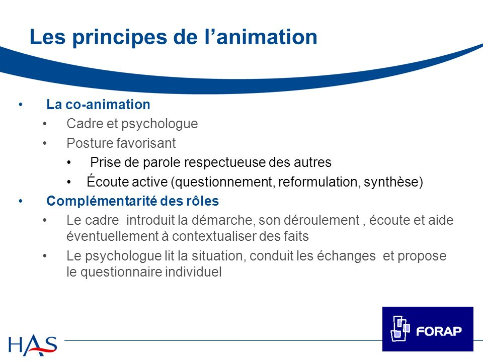 Les principes de l'animation