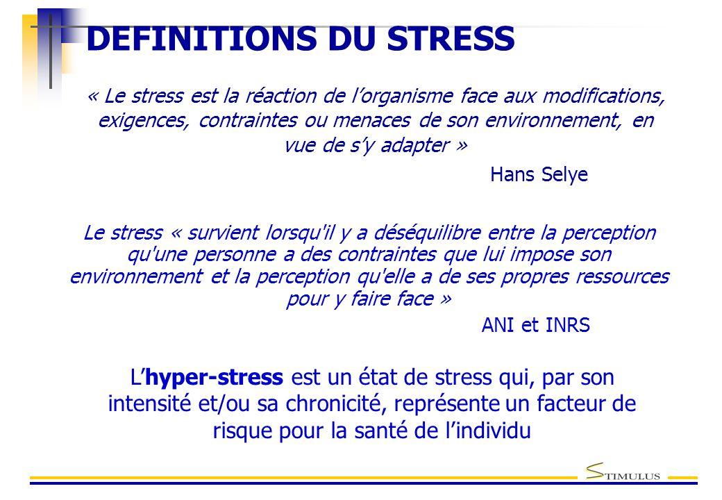 DEFINITIONS DU STRESS