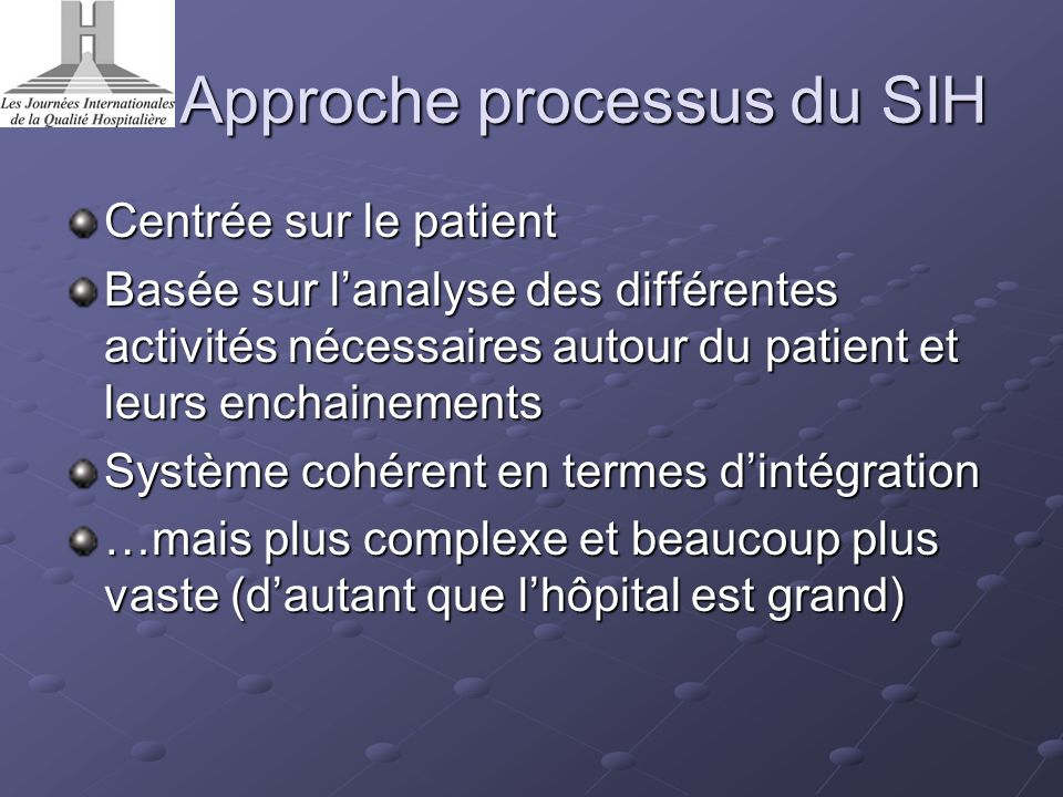 Approche processus du SIH