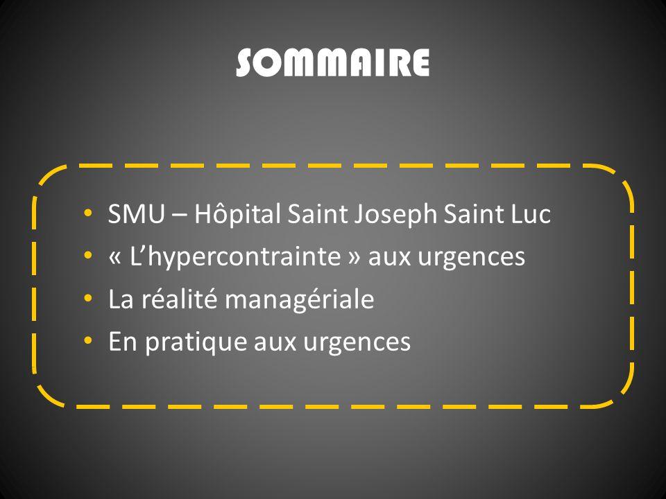 SOMMAIRE SMU – Hôpital Saint Joseph Saint Luc