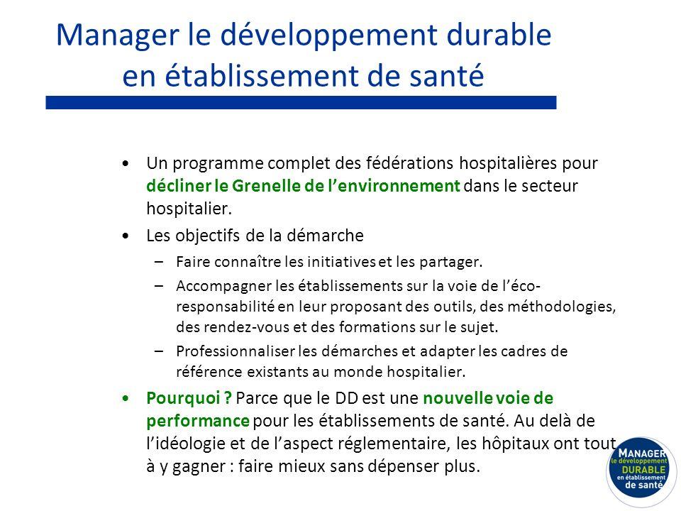 Manager le développement durable en établissement de santé