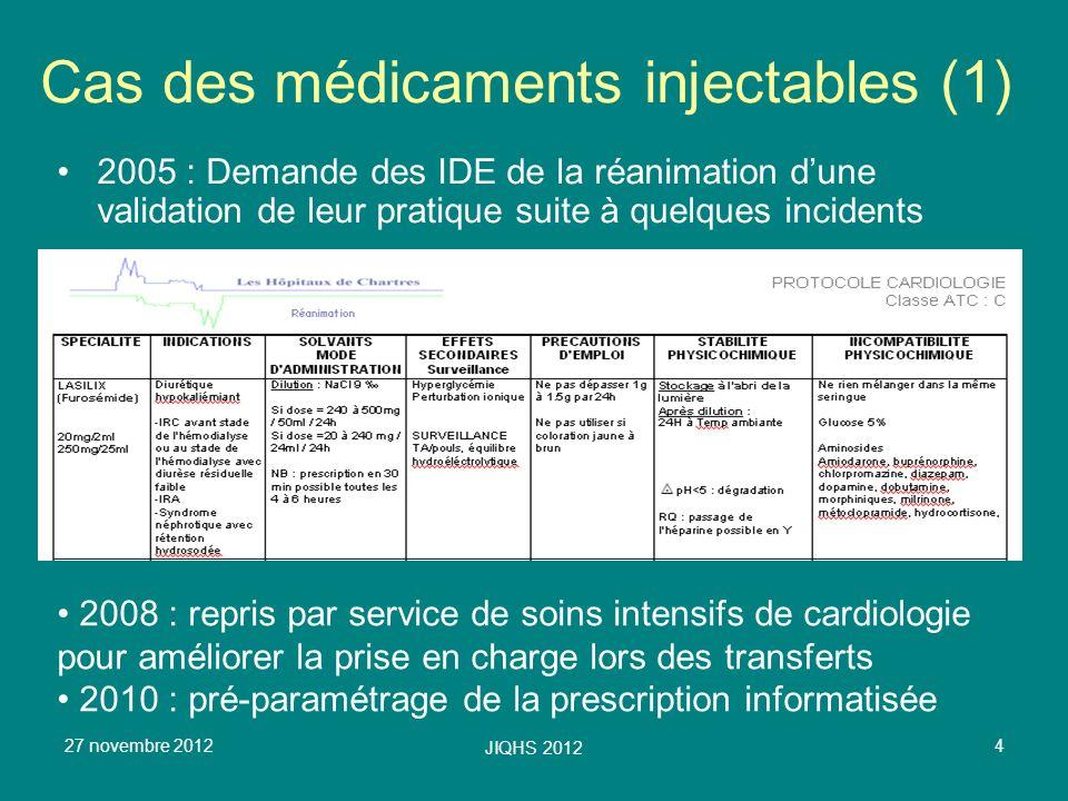 Cas des médicaments injectables (1)
