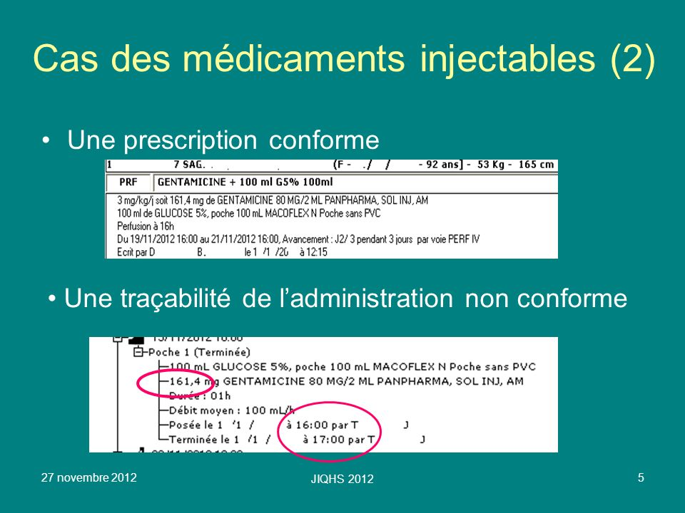 Cas des médicaments injectables (2)