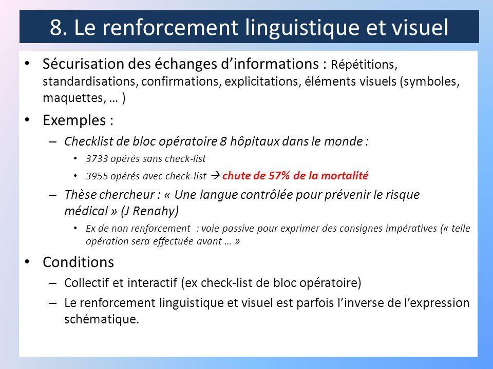 8. Le renforcement linguistique et visuel
