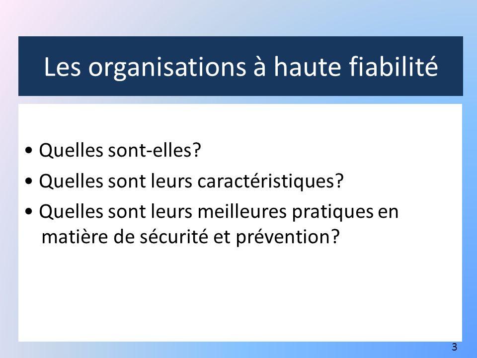 Les organisations à haute fiabilité