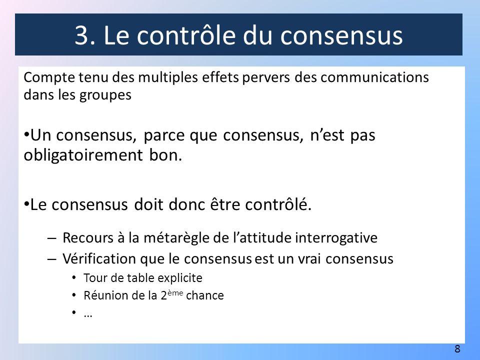 3. Le contrôle du consensus