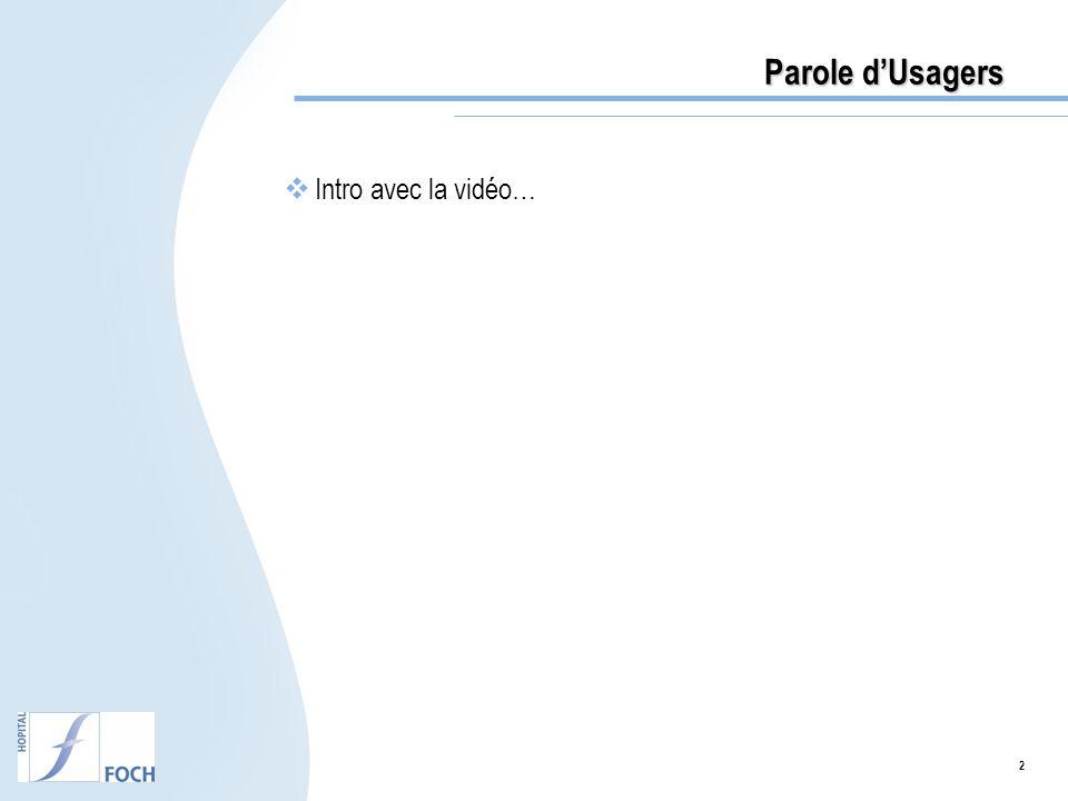 Parole d'Usagers Intro avec la vidéo… 2