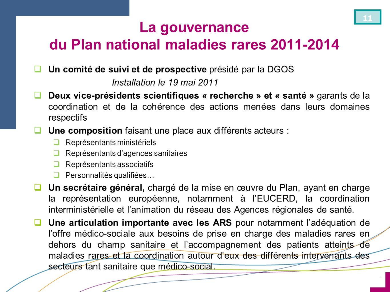La gouvernance du Plan national maladies rares 2011-2014