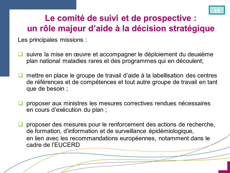 Le comité de suivi et de prospective : un rôle majeur d'aide à la décision stratégique