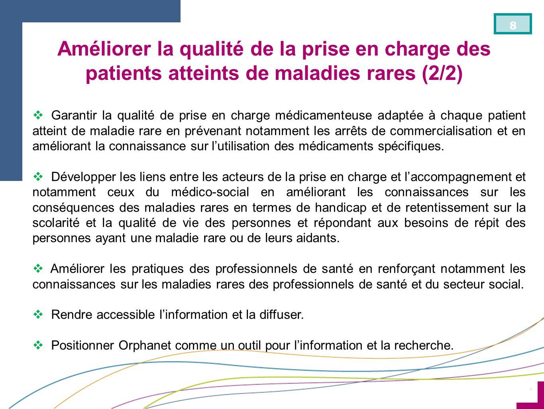 Améliorer la qualité de la prise en charge des patients atteints de maladies rares (2/2)