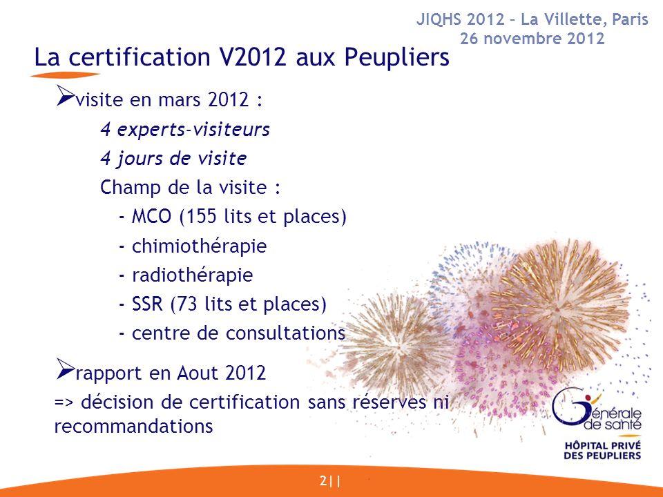 La certification V2012 aux Peupliers