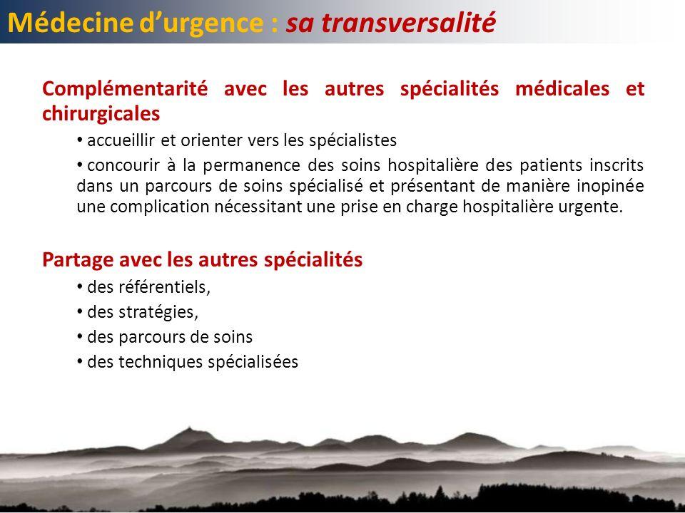 Médecine d'urgence : sa transversalité