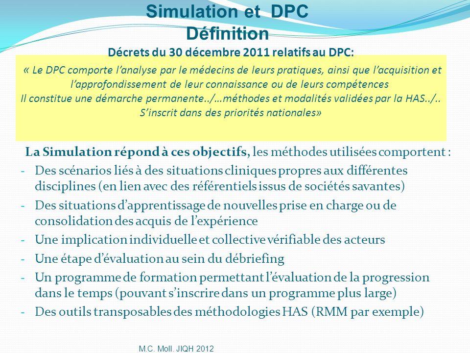 Simulation et DPC Définition