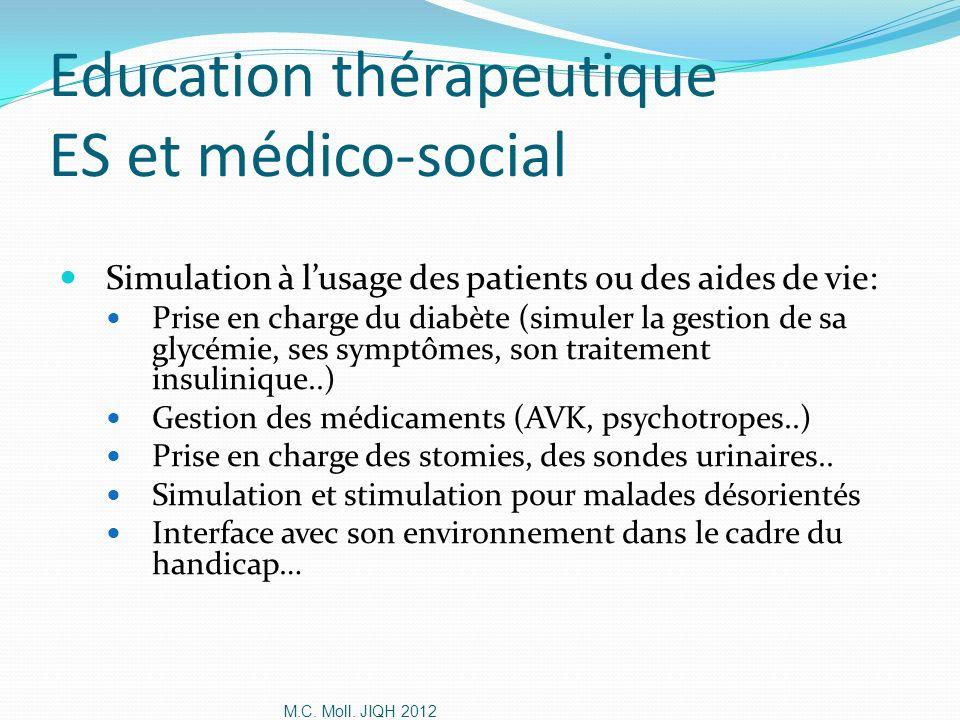 Education thérapeutique ES et médico-social