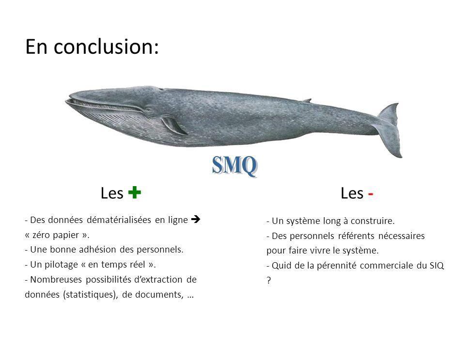 En conclusion: SMQ Les ✚ Les -