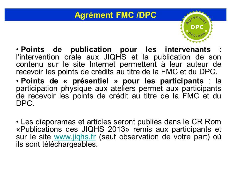 Agrément FMC /DPC