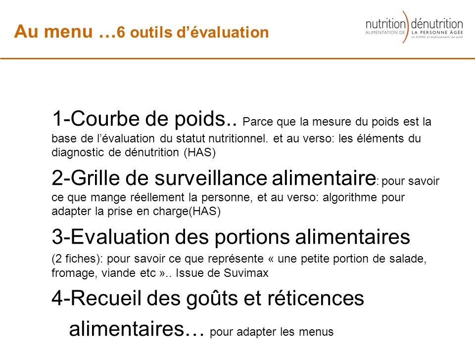 3-Evaluation des portions alimentaires