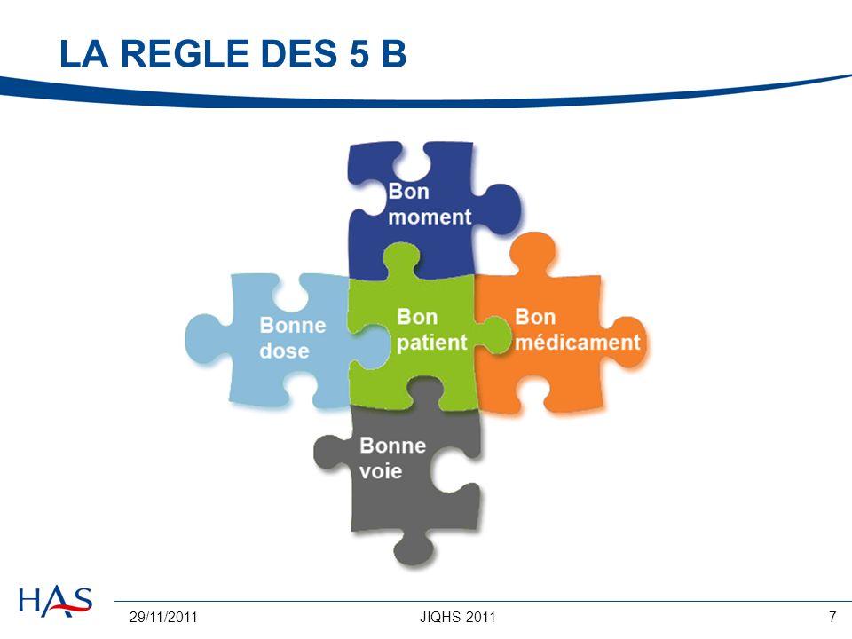 LA REGLE DES 5 B 29/11/2011 JIQHS 2011