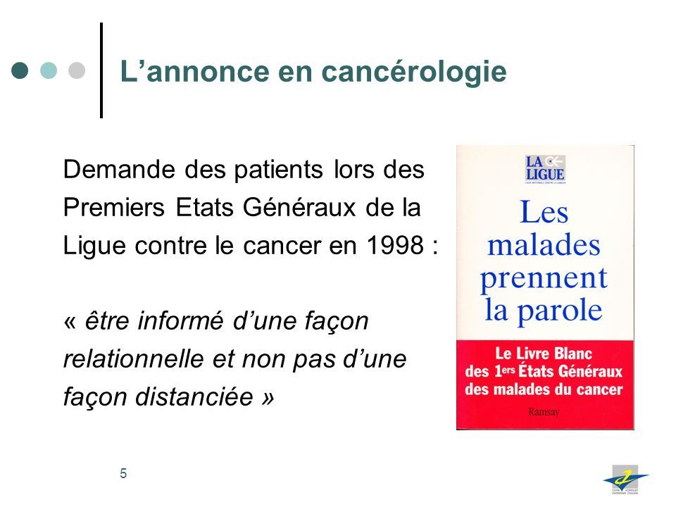 L'annonce en cancérologie