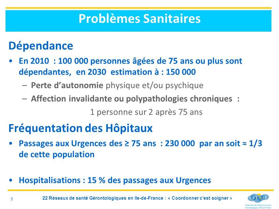 Problèmes Sanitaires Dépendance Fréquentation des Hôpitaux