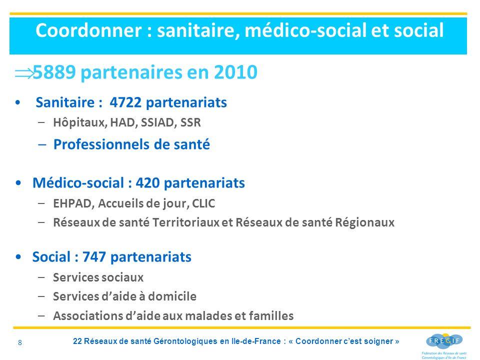 Coordonner : sanitaire, médico-social et social