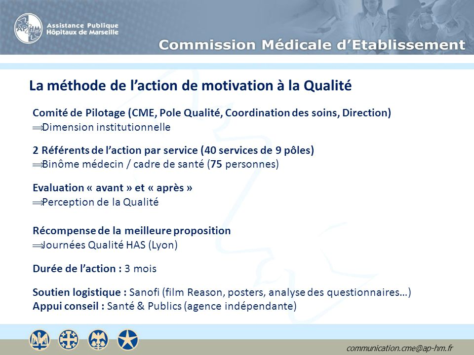 La méthode de l'action de motivation à la Qualité
