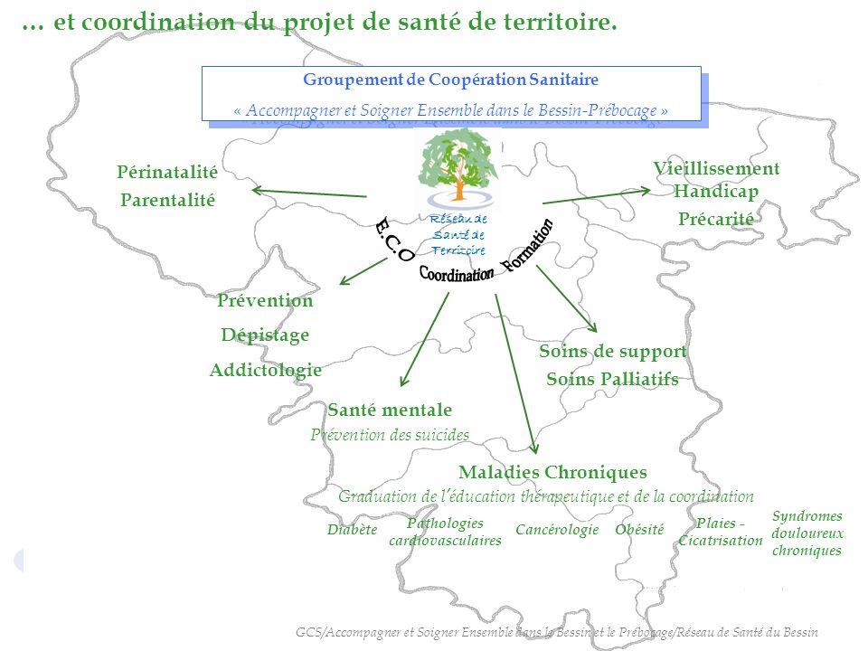 … et coordination du projet de santé de territoire.