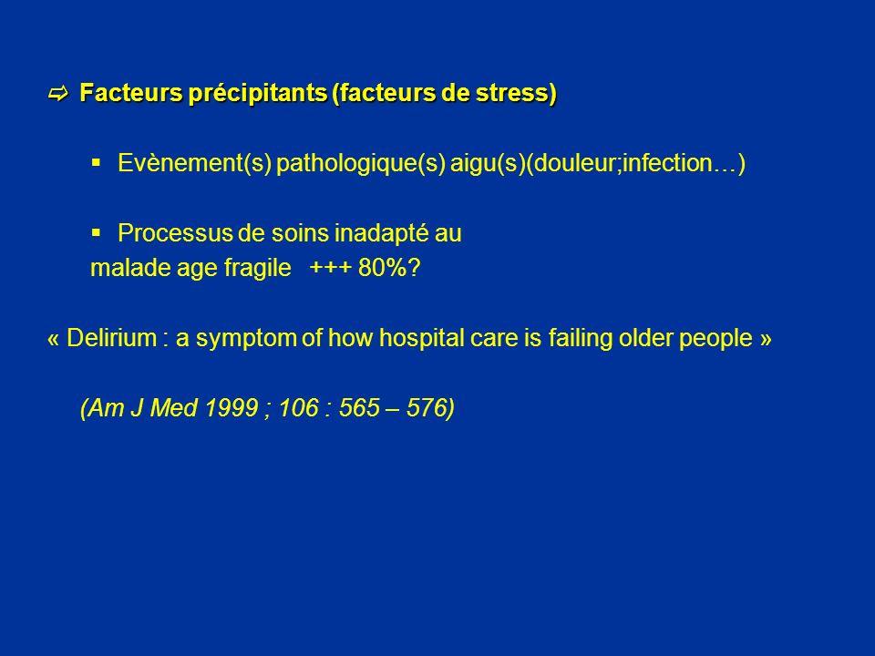 Facteurs précipitants (facteurs de stress)