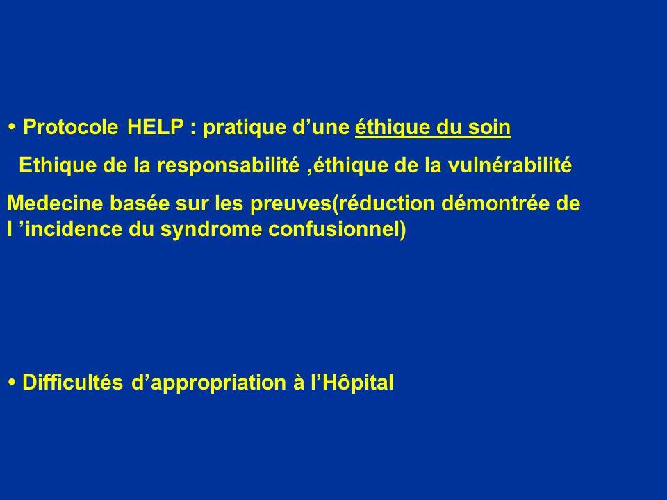 Protocole HELP : pratique d'une éthique du soin