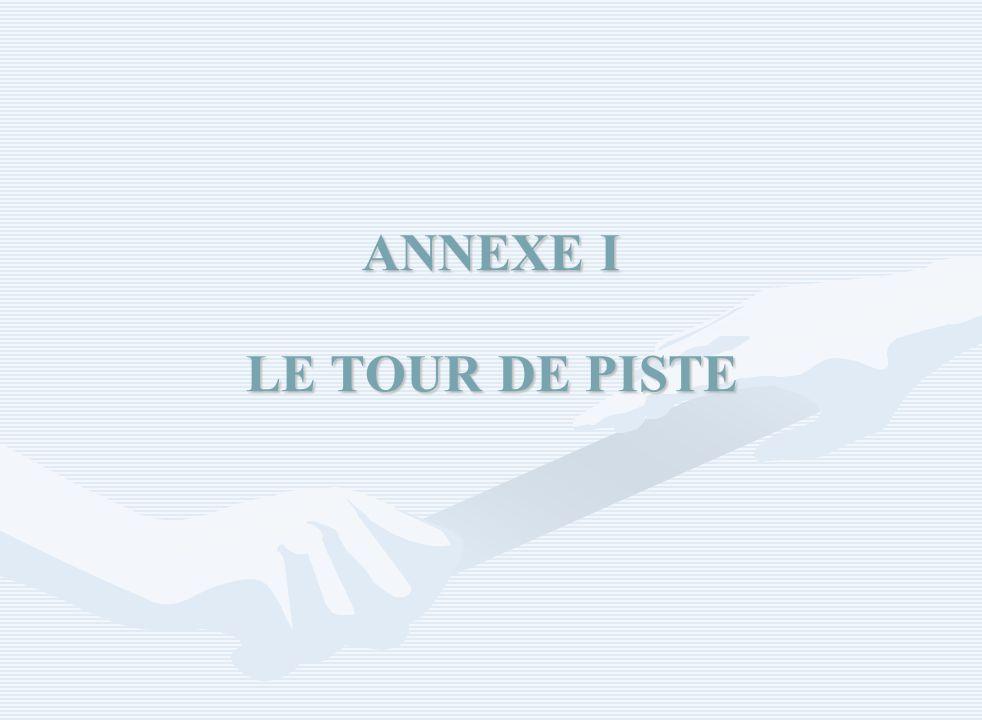ANNEXE I LE TOUR DE PISTE