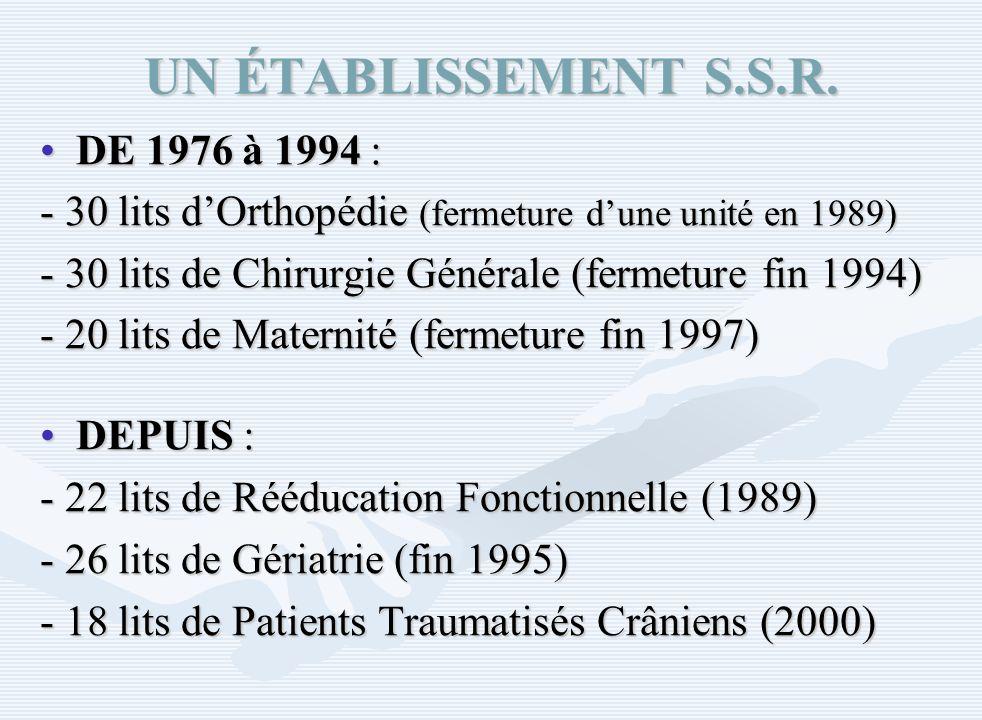 UN ÉTABLISSEMENT S.S.R. DE 1976 à 1994 :