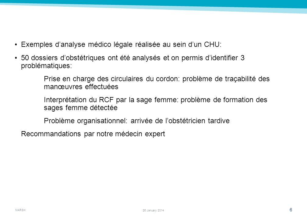 Exemples d'analyse médico légale réalisée au sein d'un CHU: