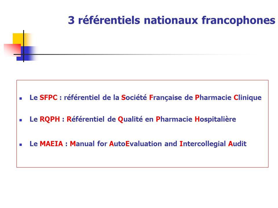 3 référentiels nationaux francophones