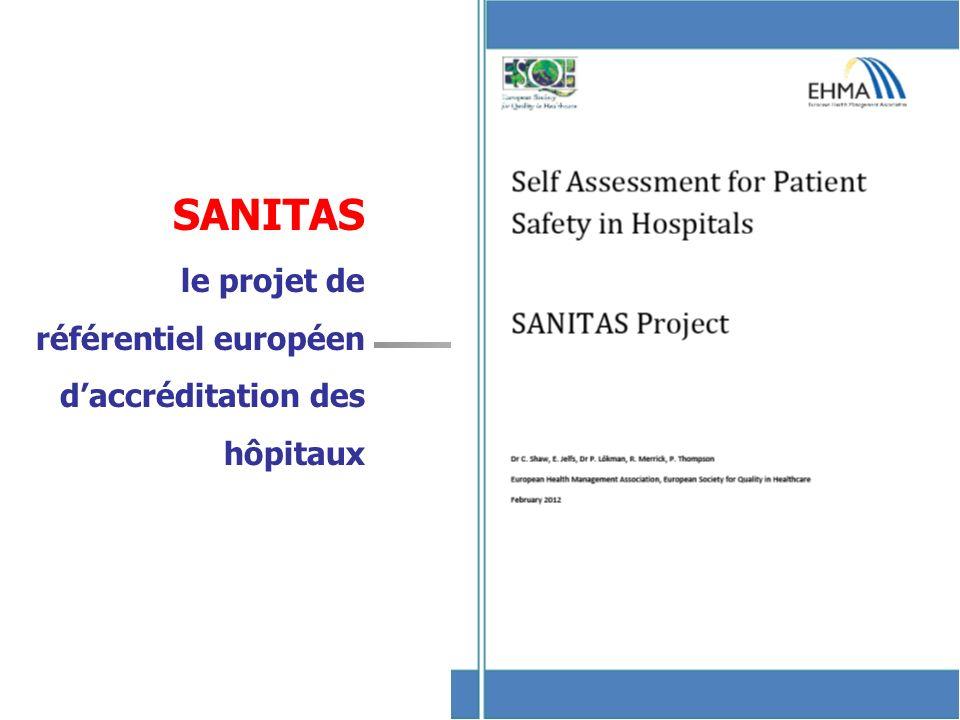 SANITAS le projet de référentiel européen d'accréditation des hôpitaux