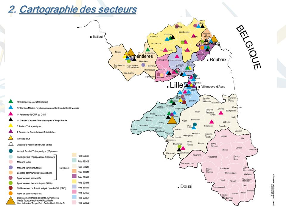 2. Cartographie des secteurs