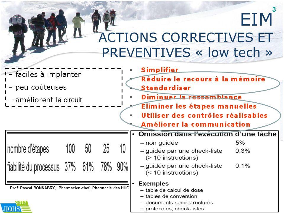 EIM ACTIONS CORRECTIVES ET PREVENTIVES « low tech »
