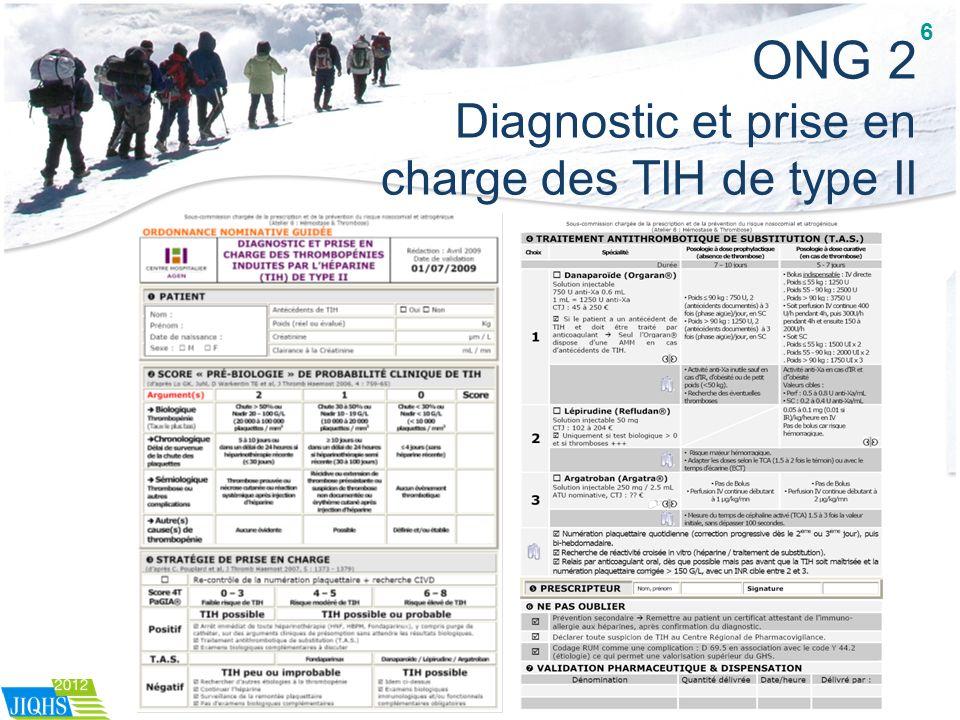 ONG 2 Diagnostic et prise en charge des TIH de type II