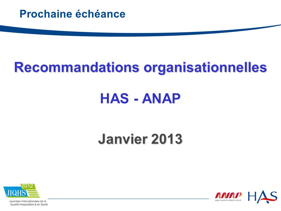 Recommandations organisationnelles