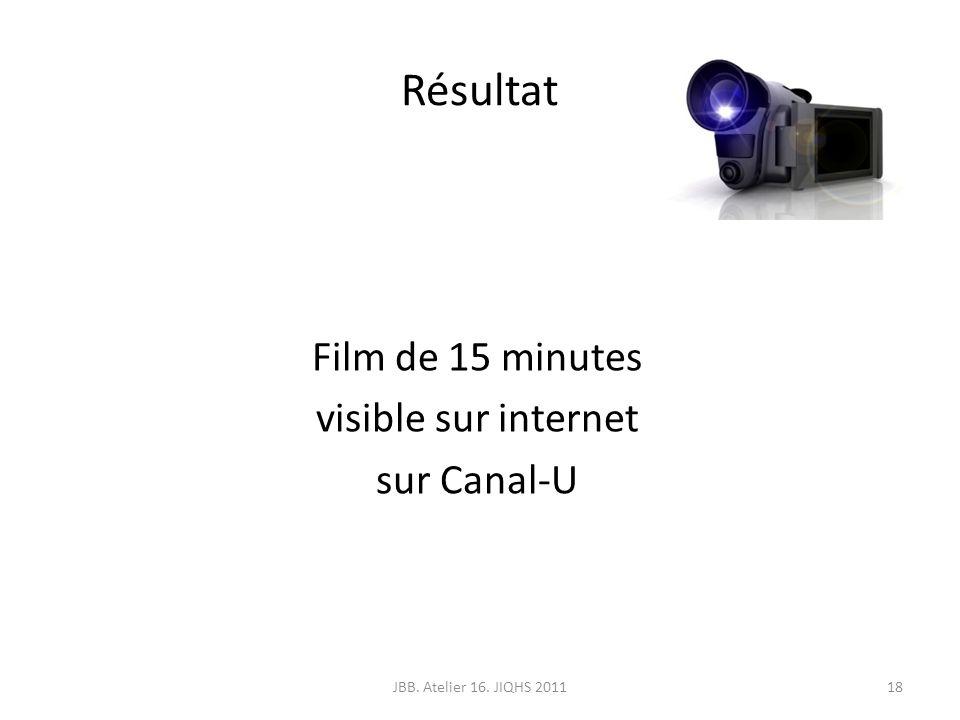 Film de 15 minutes visible sur internet sur Canal-U